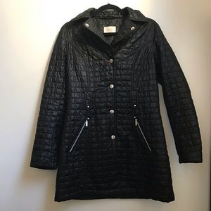 Laundry by Shelli Segal Quilted Black Jacket Sz M